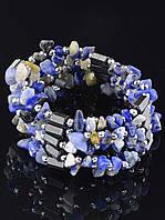 Браслет Лазурит 90 см. украшения из натуральных и искусственных камней № 035343
