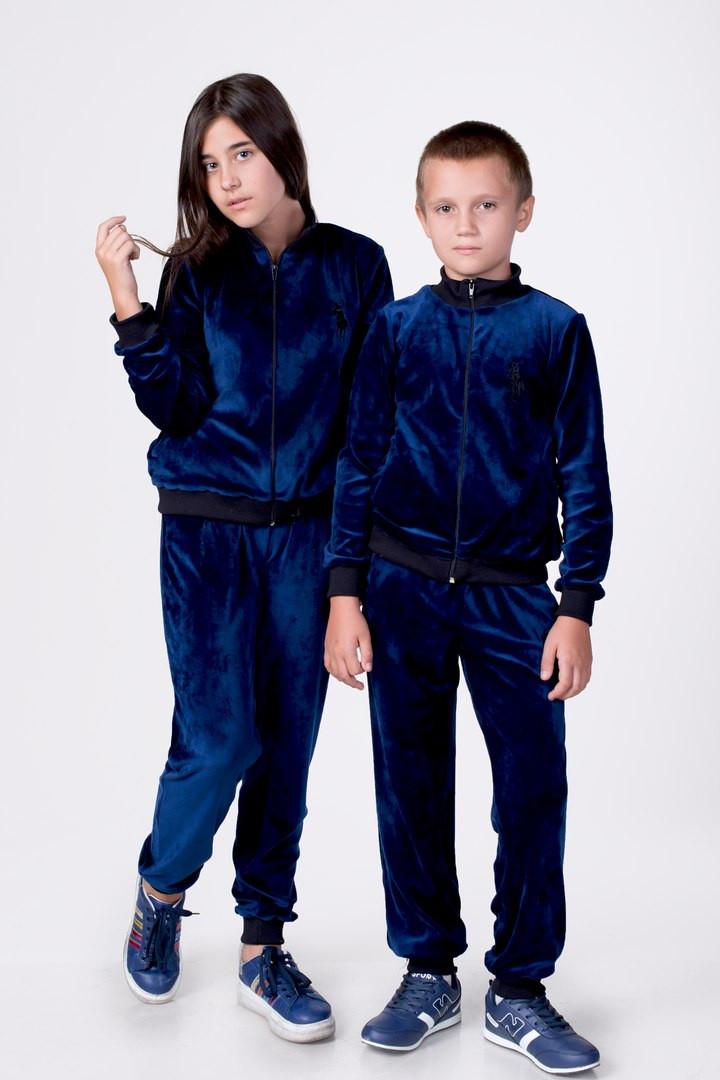 303b86b3 Детский спортивный велюровый костюм для мальчика и девочки. -  Интернет-магазин