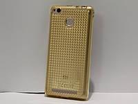 Чехол для смартфона Xiaomi Redmi 3/3S перелив золотой