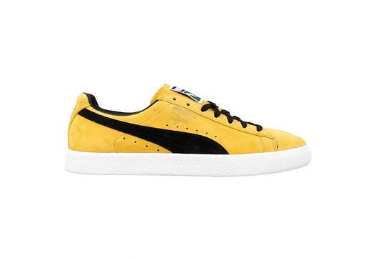 Мужские кроссовки  Puma Clyde OG Flag (yellow / black)
