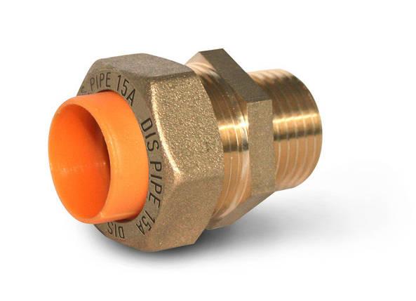 Муфта труба-наружная резьба для газа DISPIPE 15х1/2, фото 2
