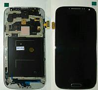 Дисплей + сенсор Samsung I9500 Galaxy S4, LCD TFT тёмно-синий карбон с передней частью