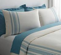 Элитное постельное белье  Ruya от Eke Home white/aqua
