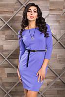Классическое Деловое Платье с Карманами Сиреневое XS-XL