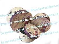 Подарочные коробки круглые Прованс набор 3шт 20х11,5 см