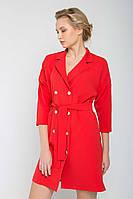Офисное платье жакет Красное