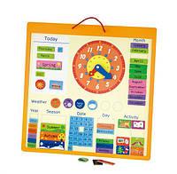 Календарь магнитный Viga Toys, деревянные часы игрушка