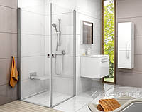 Ravak душевая дверь Ravak Chrome CRV1-80 satin+glass Transparent (1QV40U01Z1)