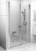 Ravak душевая дверь Ravak CSDL2-100 satin+glass Transparent (0QVACU0LZ1)