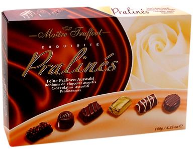 Конфеты шоколадные Ассорти Пралине Maitre Truffout Австрия 400г, фото 2