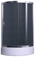 CSARDAS душевая кабина 95*95*200 см, на среднем поддоне, профиль хром, стекло тонированное 6мм, однодвер