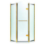 GRAND TENERIFE Combi Кабина пятиугольная с распашной дверью,в золоте/серебре, без поддона 1000*1000*2000мм, фото 1