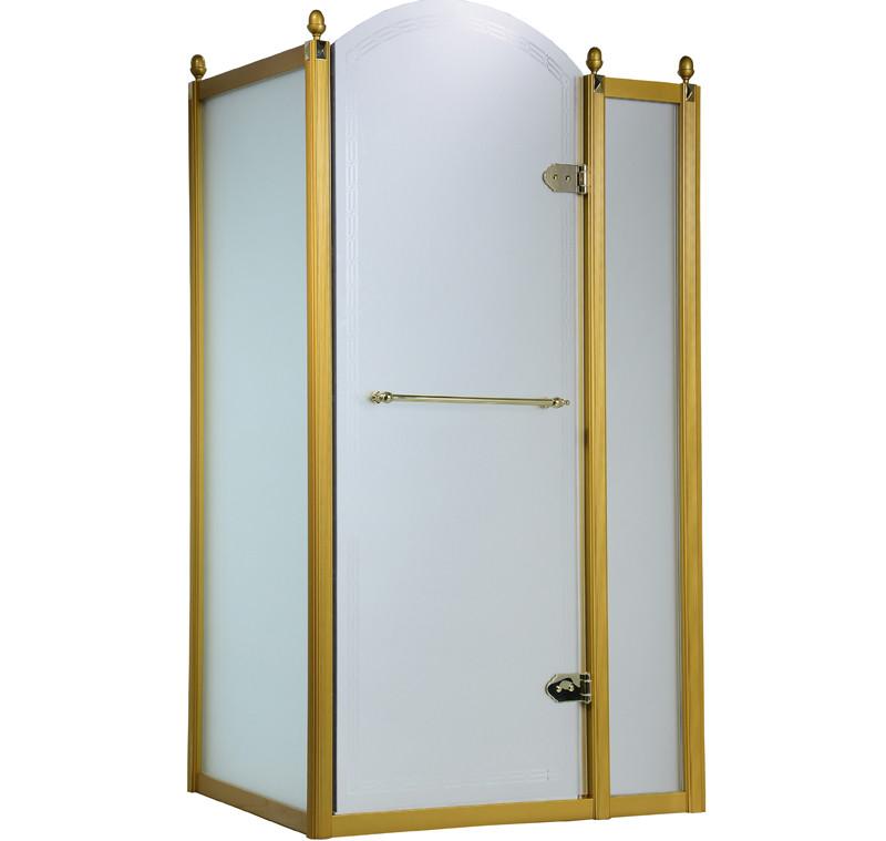 GRAND TENERIFE Gold Кабина с распашной дверью, в золоте, без поддона 1200*800*2000мм, правая