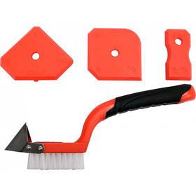 Набор шпателей для силикона и щетка 4 ед. Yato YT-52621