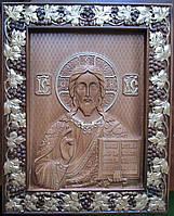 Икона Спасителя резная с позолотой