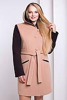 Пальто женское демисезонное кашемировое с капюшоном ML-067