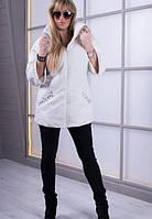 Модная  весенняя куртка  MARKIZA  молоко   ТМ VICCO 46-56 размеры