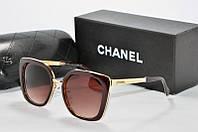 Солнцезащитные очки квадратные Chanel коричневые