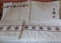 Постельное белье с вышивкой Древо жизни двуспальное евро Бязь Гост
