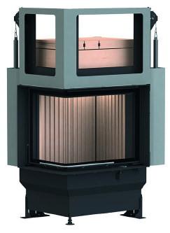 Массивная теплоаккумулирующая печь Brunner GOT 57/67/44 ZL left lifting door + GOF 50 x 35 cm