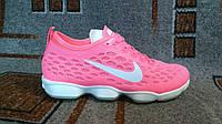 Подростковые спортивные кроссовки zoom розовые для фитнеса