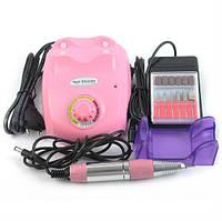 Розовый фрезер для маникюра ZS-603, 30 000 об/мин, 18 Вт