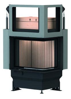 Массивная теплоаккумулирующая печь Brunner GOT 57/67/44 ZL right lifting door + GOF 50 x 35 cm