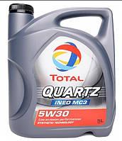 Сертифицированное моторное масло Total QUARTZ INEO MC3 5W-30 5л