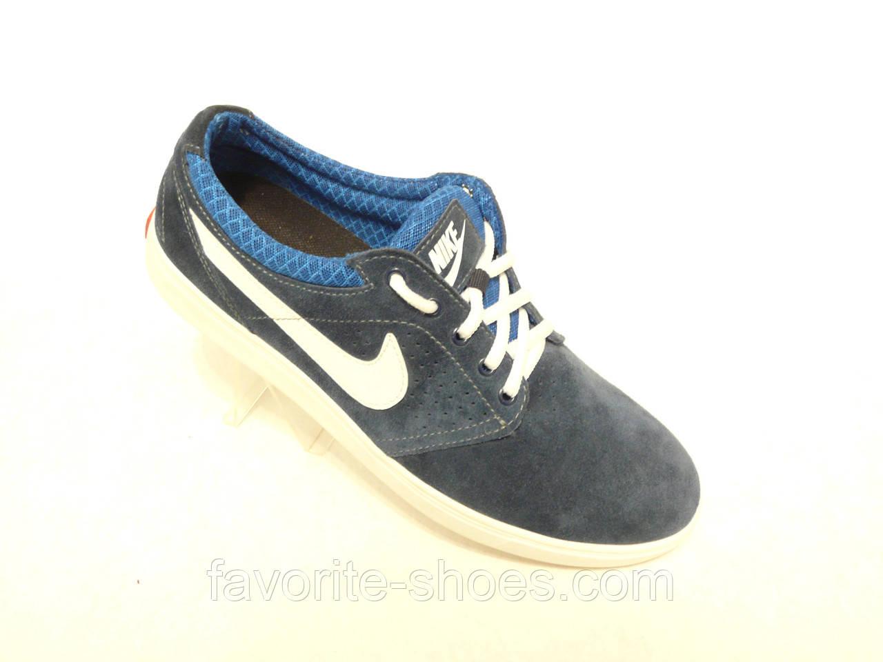 Кожаные мужские кроссовки Nike электрик 44р.