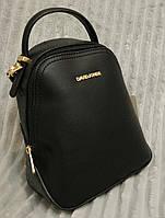 Модный и стильный рюкзак-сумка кожзам цвет черный