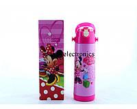 Термос для девочки zk g 604 500ml. Pink, термос с поилкой