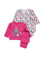 Детская пижама для девочки (2шт)  12-18 месяцев