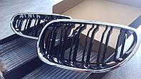 Решетка радиатора ноздри BMW E60 стиль M5 (хром рамка)
