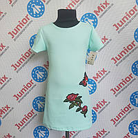 Платье-туника на девочку с вышитой розой B.B.W. kids