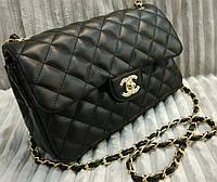 Модная сумка клатч Chanel Шанель на цепочке черная