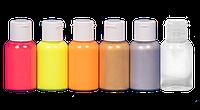 Набор красок для аэрографа JVR FLUO,silver & gold