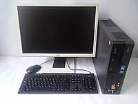 """Брендовый комплект с хорошим 22"""" монитором (1680х1050) + 2 ядра, 4GB DDR3, 160Gb HDD, фото 1"""
