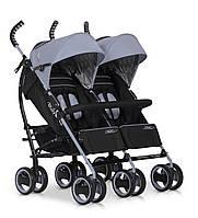 Детская прогулочная коляска-трость для двойни EasyGo Duo Comfort Grey Fox