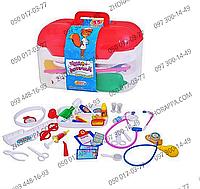 Доктор M 0460 U/R, набор, 34 предмета, свет, в чемоданчике 24*15*15 см, все необходимое для юного доктора