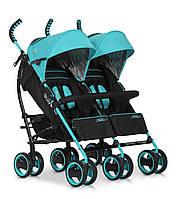Детская прогулочная коляска-трость для двойни EasyGo Duo Comfort Malachite
