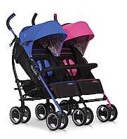 Детская прогулочная коляска-трость для двойни EasyGo Duo Comfort Mix