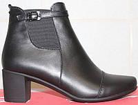 Ботинки женские весенние кожаные на каблуке, женская обувь весна от производителя модель СТБ10