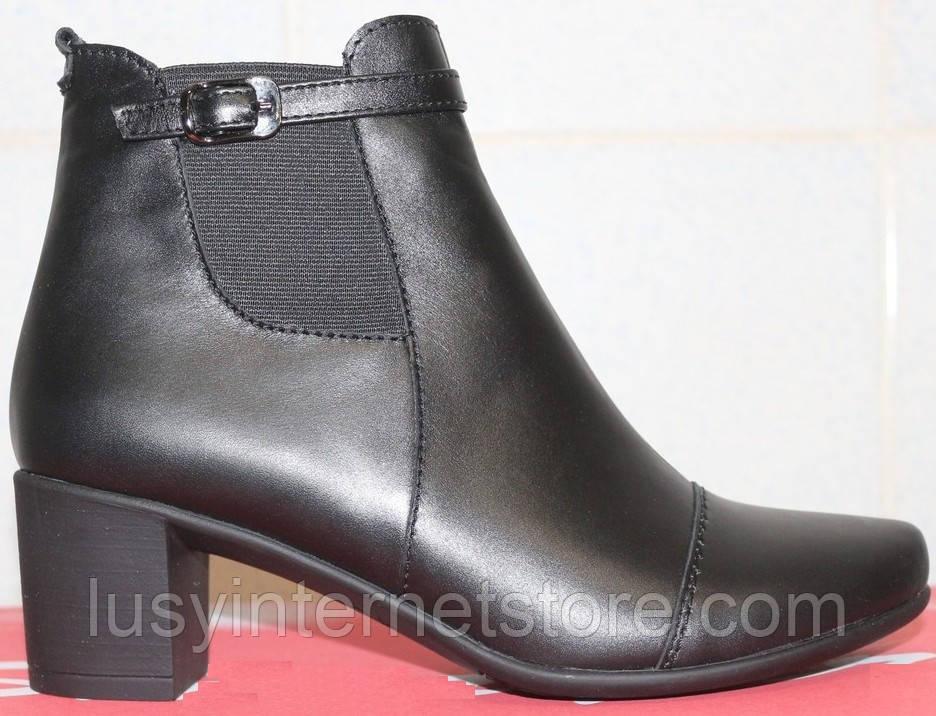 Ботинки женские весенние кожаные на каблуке, женская обувь весна от  производителя модель СТБ10 - Lusy deaa4b6ace1