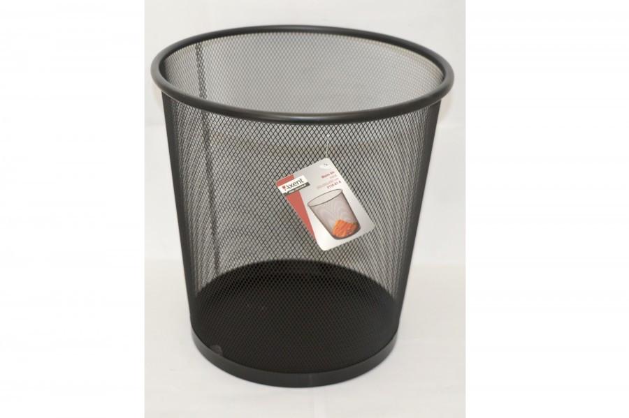 Корзина для бумаг Axent металлическая, черная