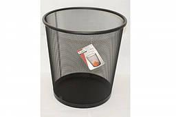 Корзина для бумаг Axent металлическая, черная 2119-01-A