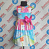 Платье модное  на девочку с коротким рукавом  DEVA