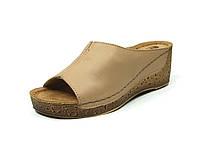 Женская кожаная ортопедическая обувь Inblu сабо:NG11X8/026 р.36,37,38,39,40 бежевые