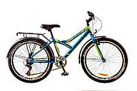 """Велосипед 24"""" Discovery FLINT  14G  Vbr  рама-14"""" St сине-черно-зеленый (м)  с багажником зад St, с крылом St"""