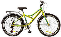 "Велосипед 24"" Discovery FLINT  14G  Vbr  рама-14"" St зелено-серо-голубой (м)  с багажником зад St, с крылом St"