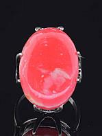 Кольцо с сардониксом. 029417 Кольцо 19 размера 25х20 мм камень, натуральный Сардоникс (покрытие серебро), основа латунь